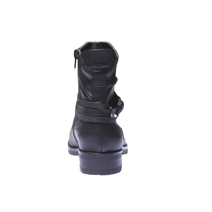Kotníkové kozačky bata, černá, 591-6648 - 17