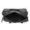 Kabelka v Bowling stylu s prošíváním bata, černá, 961-6191 - 15