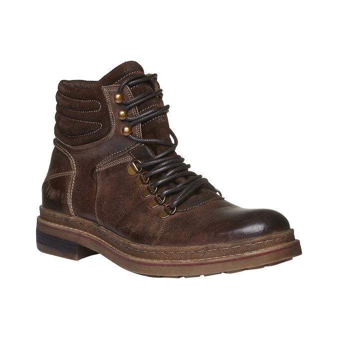 Kotníkové zimní boty šněrovací bata, hnědá, 894-4109 - 13