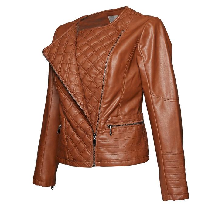Dámská bunda s šikmým zipem bata, hnědá, 971-3186 - 15