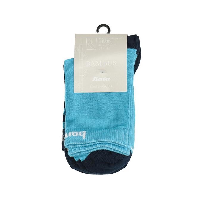 Sada 3 párů dětských bambusových ponožek bata, 919-0603 - 13
