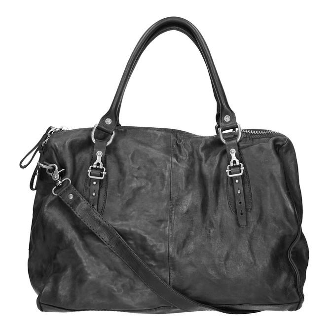 Kožená taška v Bowling stylu a-s-98, černá, 966-6020 - 19