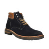 Kožená kotníčková obuv s výraznou podešví bata, modrá, 893-9650 - 13