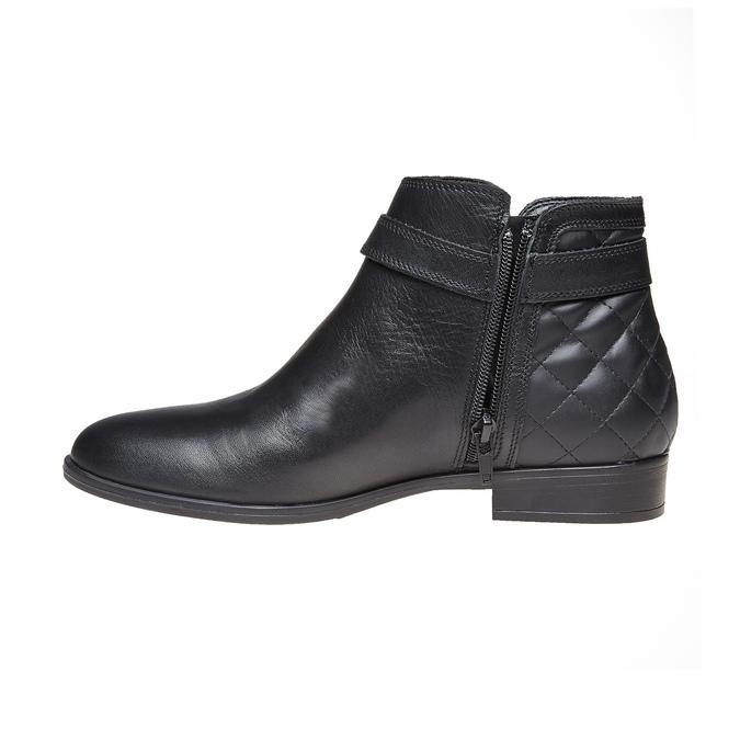 Kožená kotníčková obuv bata, černá, 594-6167 - 19