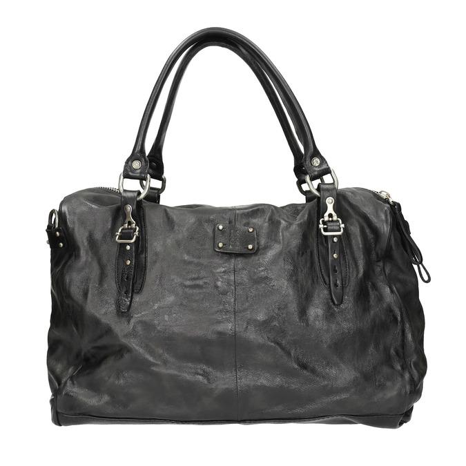 Kožená taška v Bowling stylu a-s-98, černá, 966-6020 - 26