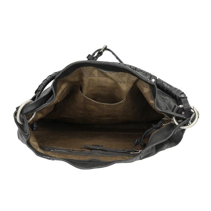 Kožená kabelka a-s-98, černá, 966-6022 - 15