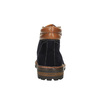 Kožená kotníčková obuv s výraznou podešví bata, modrá, 893-9650 - 17