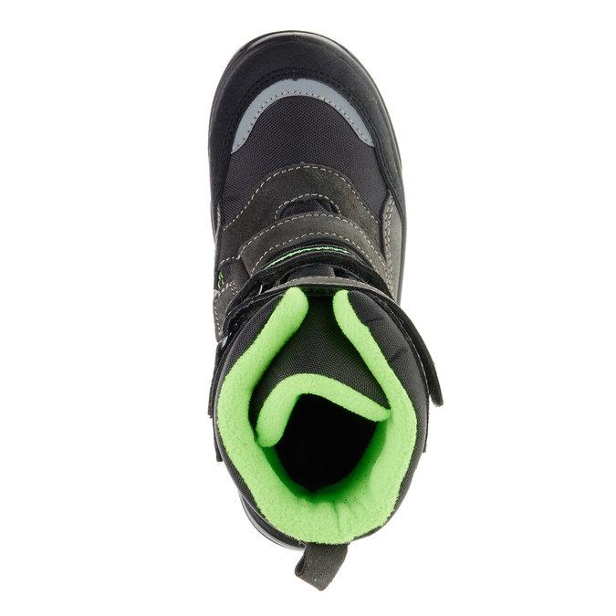 Kožená zimní obuv mini-b, šedá, 499-2110 - 19