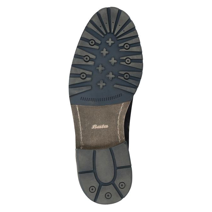 Kotníčková kožená obuv bata, modrá, 893-9651 - 26