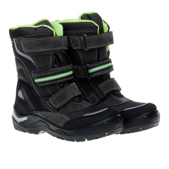 Kožená zimní obuv mini-b, šedá, 499-2110 - 26