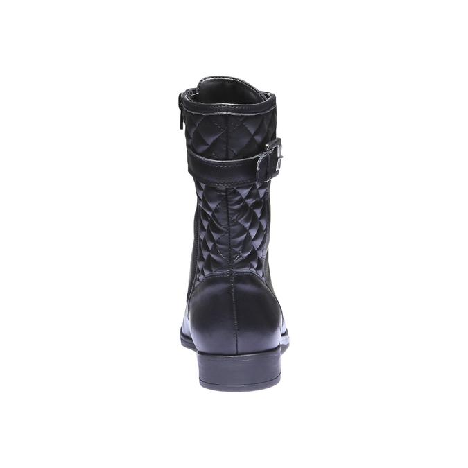 Kožená kotníčková obuv s prošitím bata, černá, 594-6160 - 17
