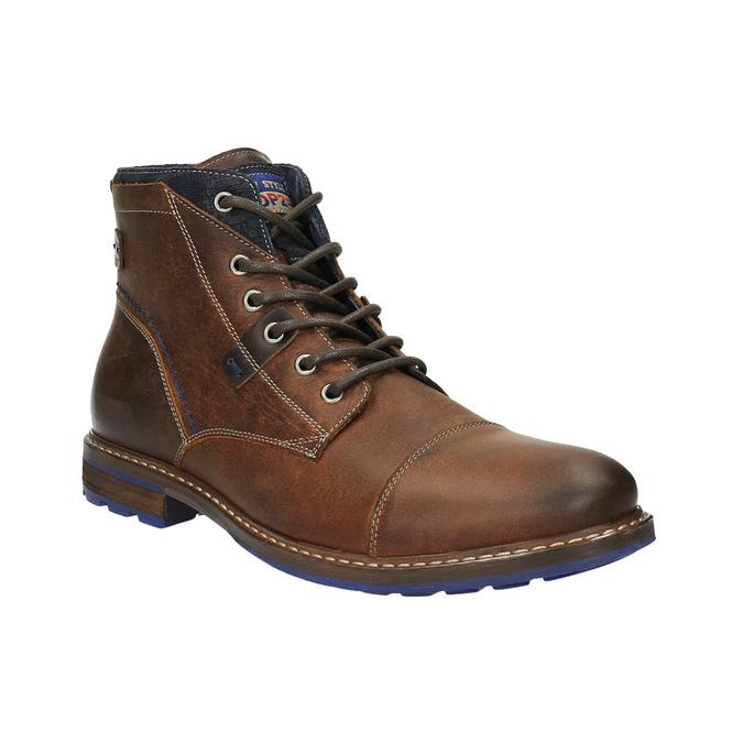 Kožená kotníčková obuv bata, hnědá, 896-4645 - 13