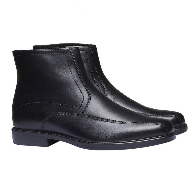 Kožené kotníčkové boty bata, černá, 894-6257 - 26