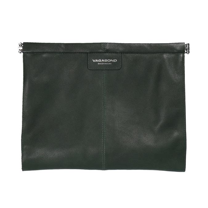 Zelené kožené psaníčko vagabond, zelená, 964-7001 - 19