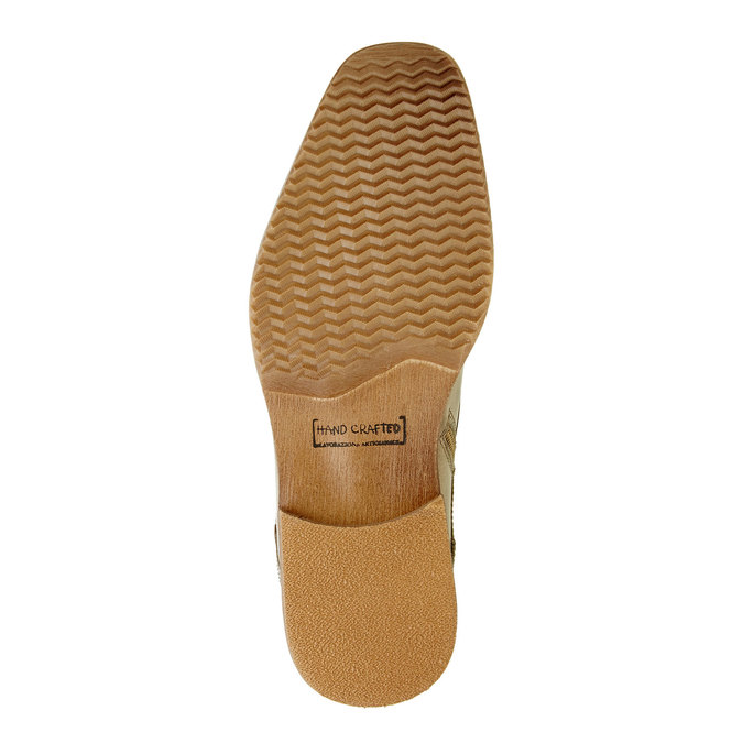 Kožená kotníčková obuv pánská bata, šedá, 894-2620 - 26