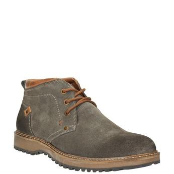 Kožené pánské Chukka Boots bata, hnědá, 893-3652 - 13