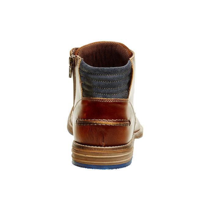 Kožená kotníčková obuv pánská bata, hnědá, 894-4620 - 17