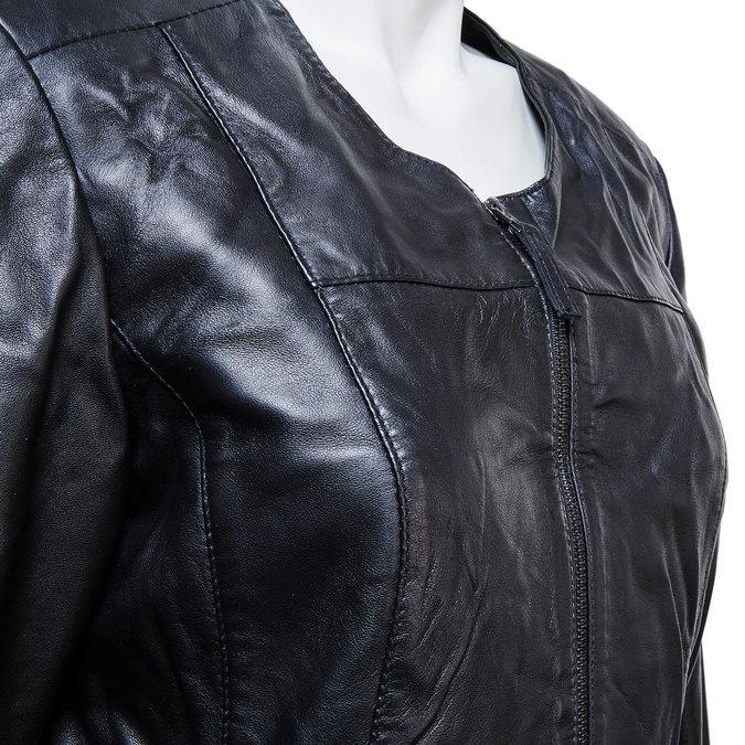 Dámská kožená bunda černá bata, černá, 974-6173 - 16