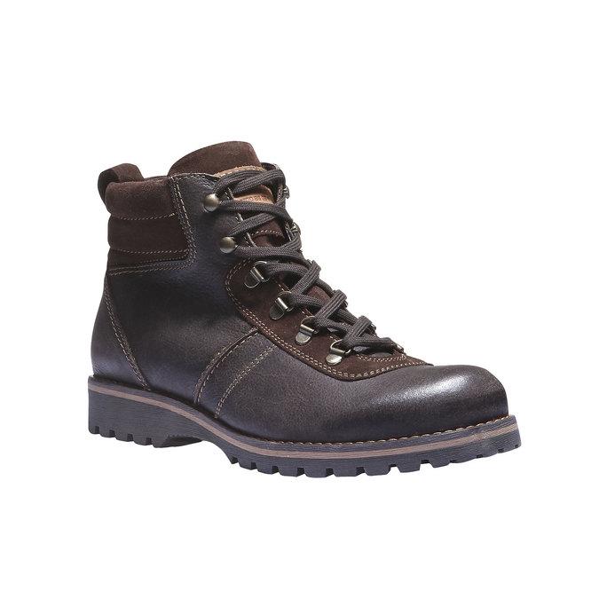 Kožená kotníčková obuv bata, hnědá, 894-4343 - 13