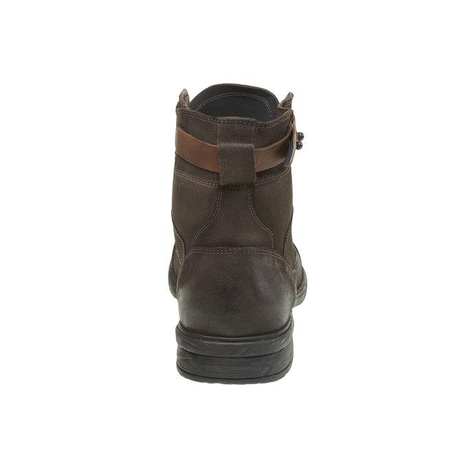 Kožené kotníkové boty bata, šedá, 894-2165 - 17