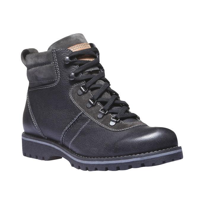 Kožená kotníčková obuv bata, černá, 894-6343 - 13