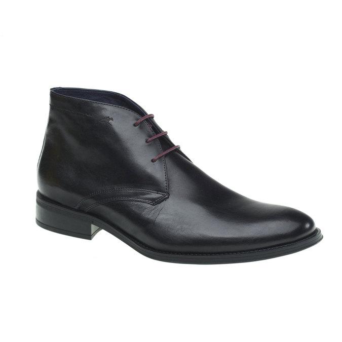 Kožená kotníčková obuv fluchos, černá, 894-6122 - 13