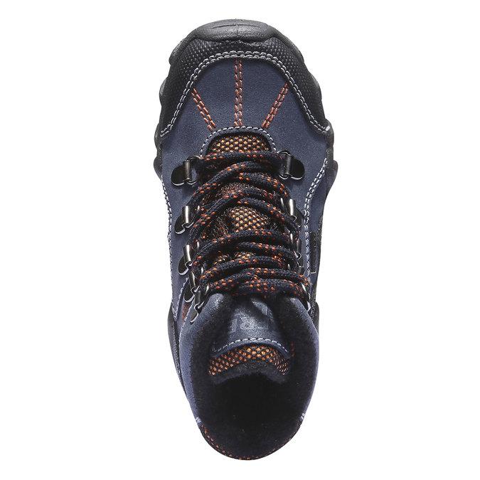 Dětské vysoké kožené boty mini-b, modrá, 416-9100 - 19