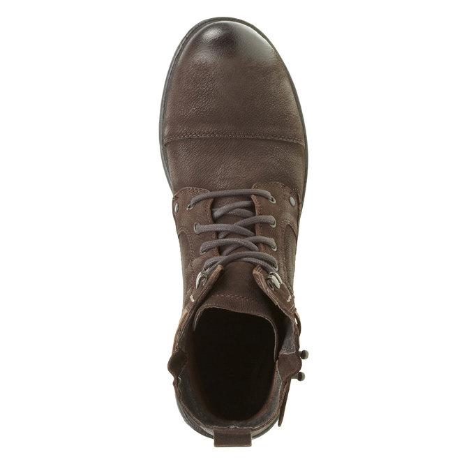 Kožené kotníkové boty bata, hnědá, 894-4165 - 19