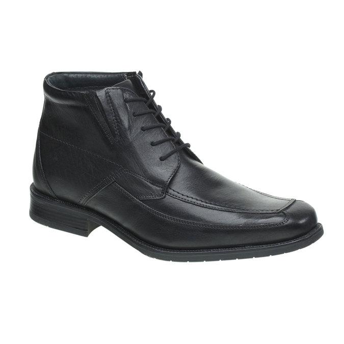 Kožené polobotky bata, černá, 894-6429 - 13