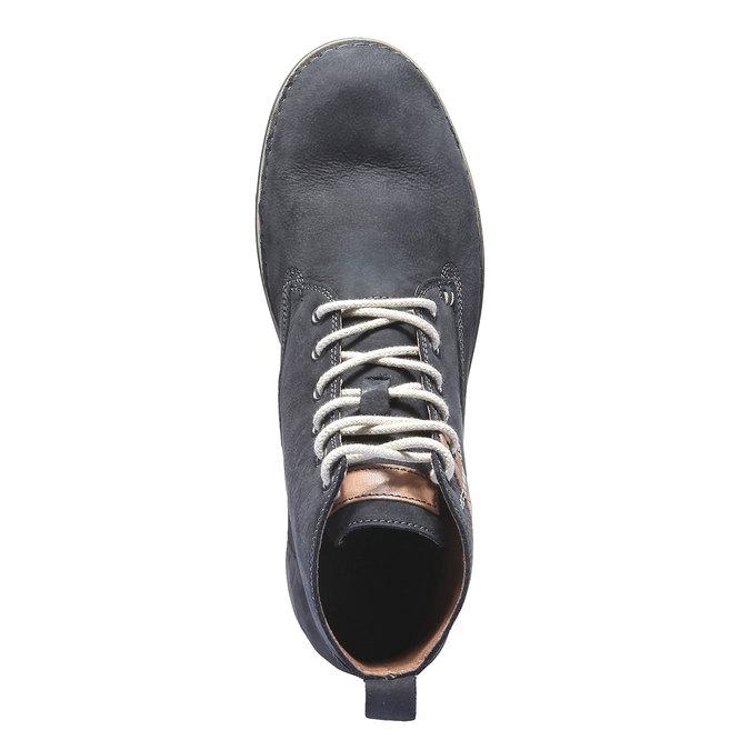Kožená obuv na šněrování weinbrenner, fialová, 896-9340 - 19