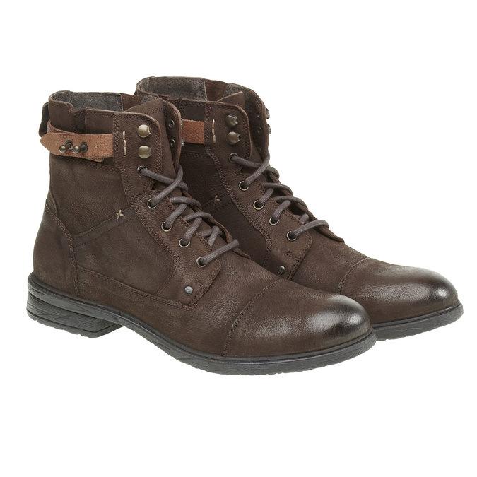 Kožené kotníkové boty bata, hnědá, 894-4165 - 26