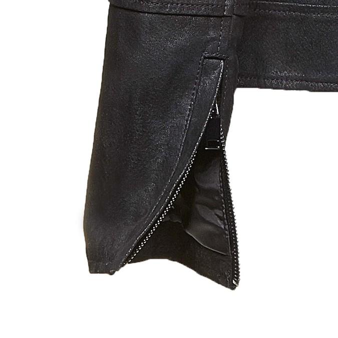 Dámská kožená bunda s límečkem bata, černá, 973-6107 - 16