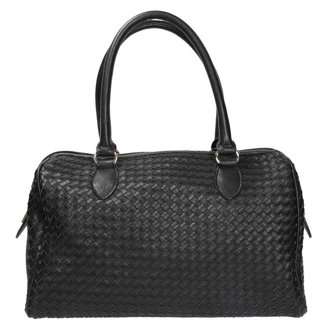 Bowling kabelka s propleteným vzorem bata, černá, 961-6629 - 19