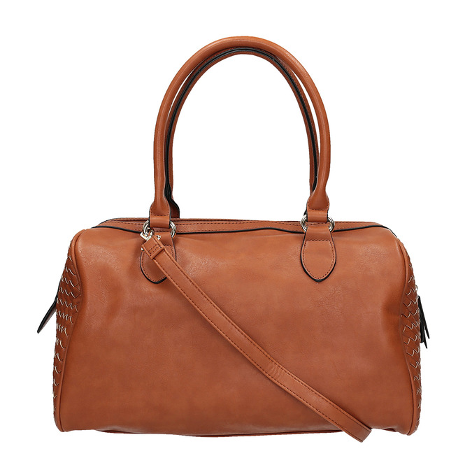 Bowling kabelka s propleteným vzorem bata, hnědá, 961-3629 - 19