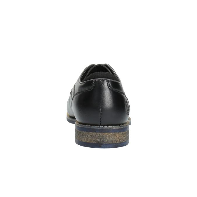 Pánské ležérní polobotky bata, černá, 821-6600 - 17