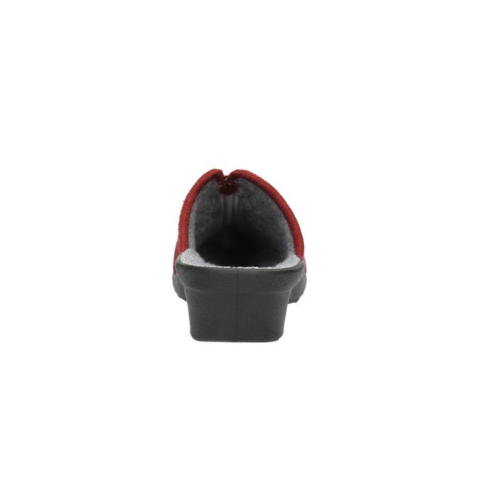 Dámská domácí obuv s plnou špicí bata, červená, 579-5602 - 17