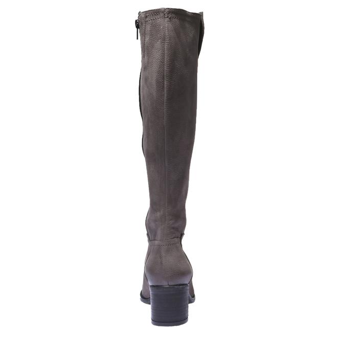 Kožené kozačky bata, šedá, 696-3100 - 17