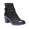 Kožená kotníčková obuv bata, černá, 794-6524 - 13