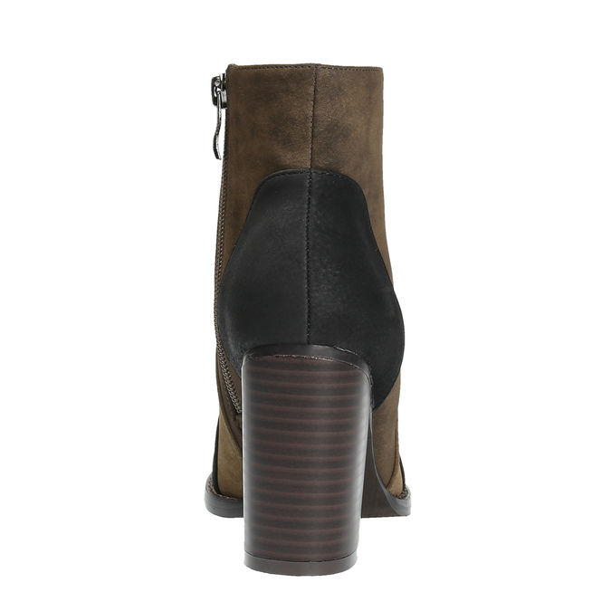 Kotníčková obuv na širokém podpatku bata, hnědá, 799-3612 - 17