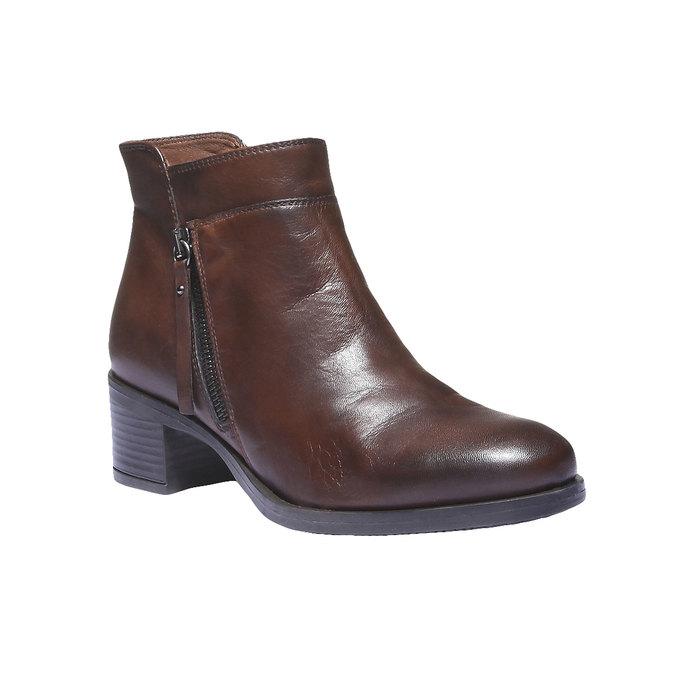 Kožená kotníčková obuv bata, hnědá, 694-4166 - 13