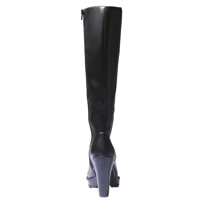 Kozačky na originální podešvi bata, černá, 791-6574 - 17