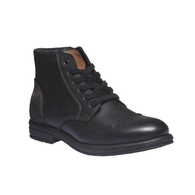 Ležérní kožená obuv bata, černá, 894-6555 - 13