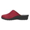 Dámská domácí obuv s plnou špicí bata, červená, 579-5602 - 26