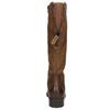 Hnědé kožené kozačky bata, hnědá, 596-4604 - 17