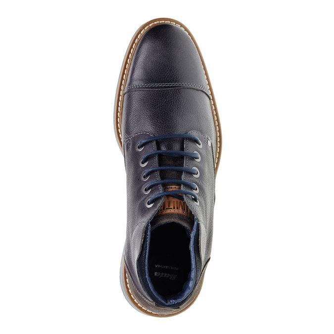 Kožené kotníčkové boty bata, šedá, 894-2121 - 19