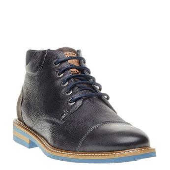 Kožené kotníčkové boty bata, šedá, 894-2121 - 13