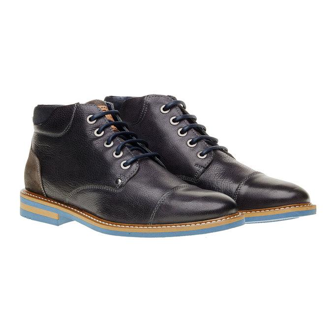 Kožené kotníčkové boty bata, šedá, 894-2121 - 26