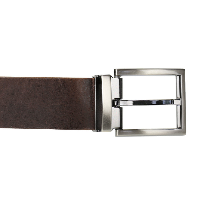 Hnědý kožený opasek bata, hnědá, 954-4129 - 26