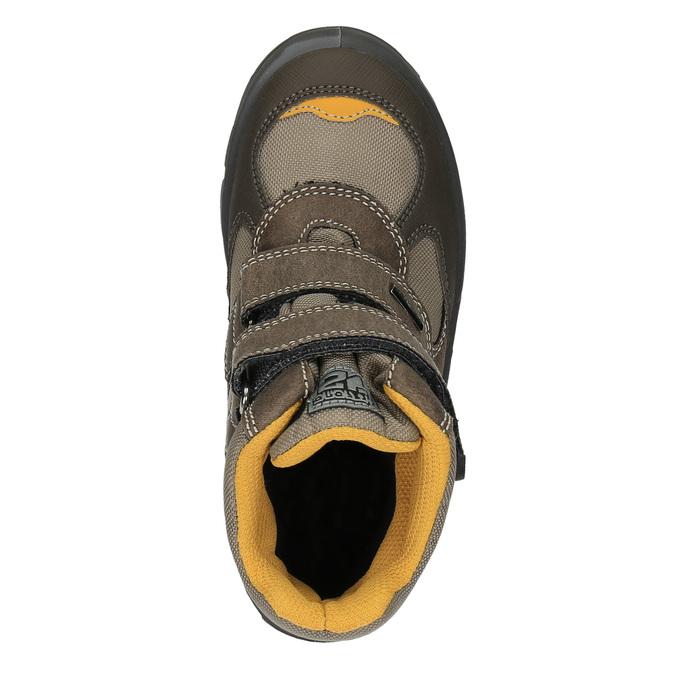 Dětská zimní obuv na suché zipy mini-b, hnědá, 499-3103 - 19