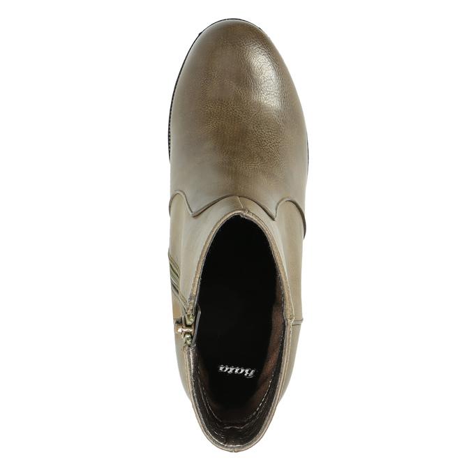 Kotníčková obuv na širokém podpatku bata, hnědá, 791-3601 - 19